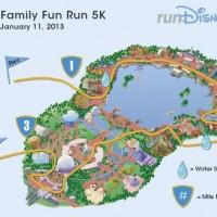 2013 RunDisney Family Fun Run 5K Course Map