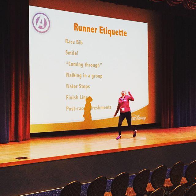 Expo talk on runner etiquette!