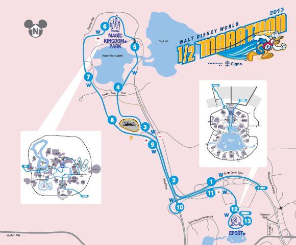 Walt Disney World Half Marathon Course Map Healthy Disney Guide