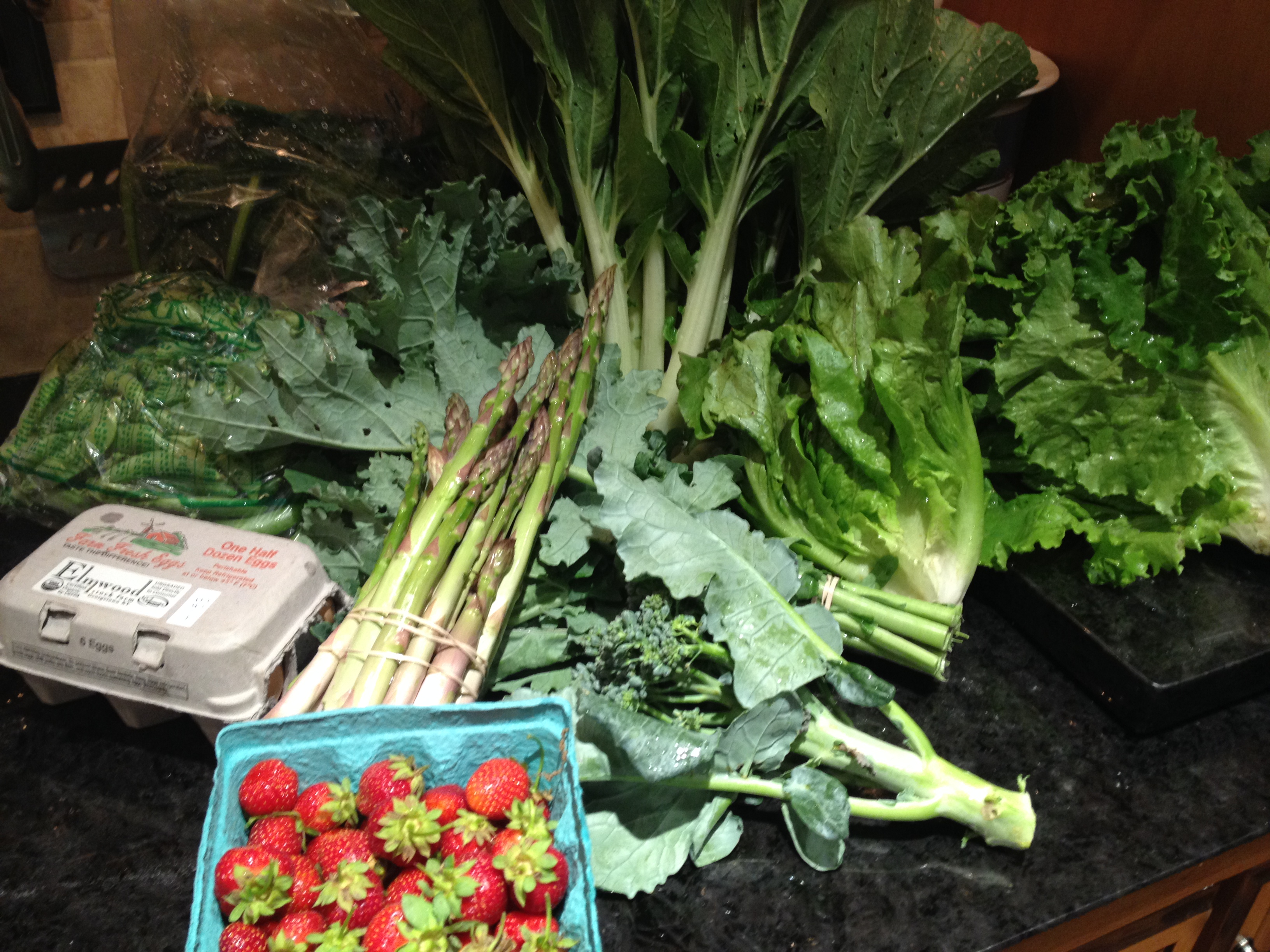 Summer 2014 CSA – Vegetable Box week 3