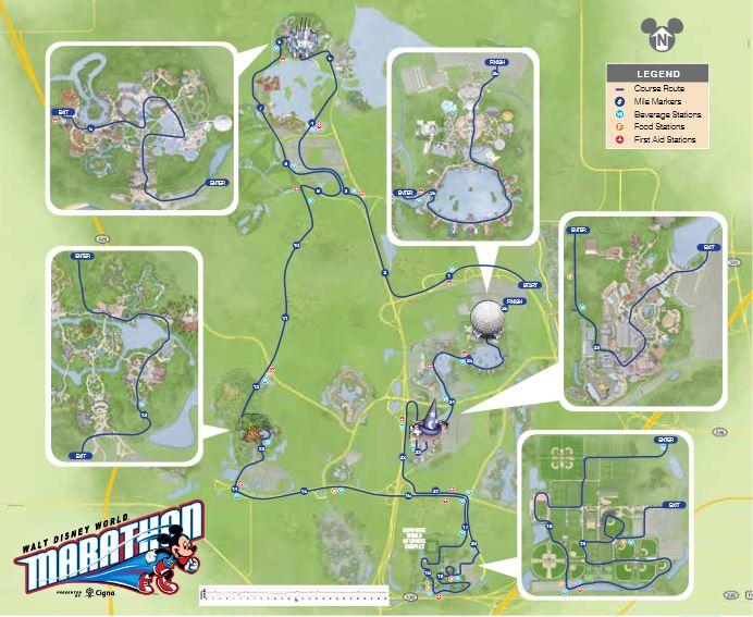 RunDisney 2015 Walt Disney World Marathon Course Map Review - Eat, Run ...