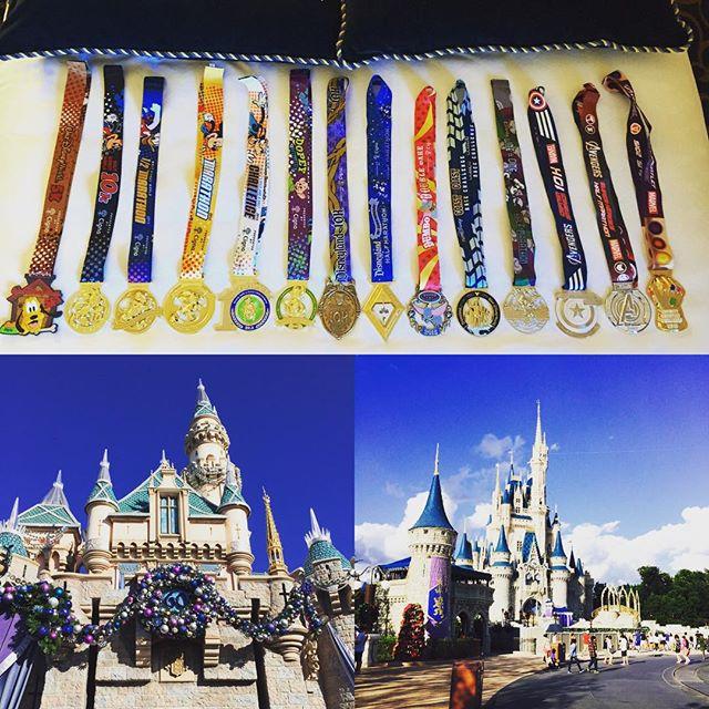 Disneyland – 2015 RunDisney medals!