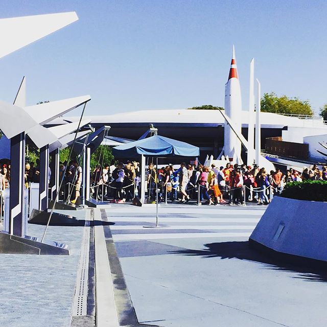 Disneyland – Long line for soft opening of Hyperspace Mountain
