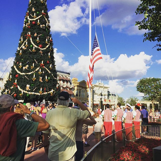 Walt Disney World – Every day at 5 pm in Walt Disney World's Magic Kingdom and also at Disneyland, there is a flag lowering ceremony. Try to see it sometime!