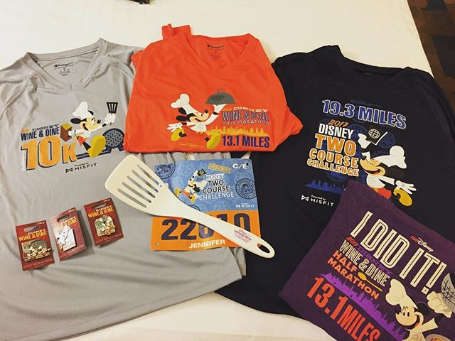 Walt Disney World – Halfway done with the Wine & Dine 2 Course Challenge! 10K done, half marathon tomorrow.